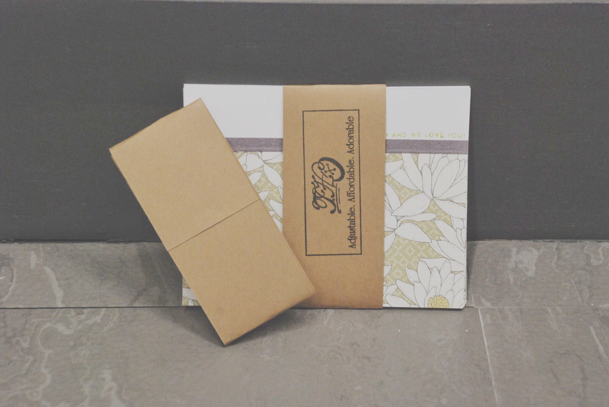 Bliss wrapped in cardstock strip | Handmade Birthday Card | Thoughtfully Handmade