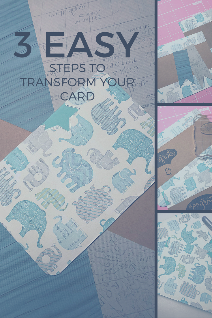 3 easy steps to transform your card | Thoughtfully Handmade