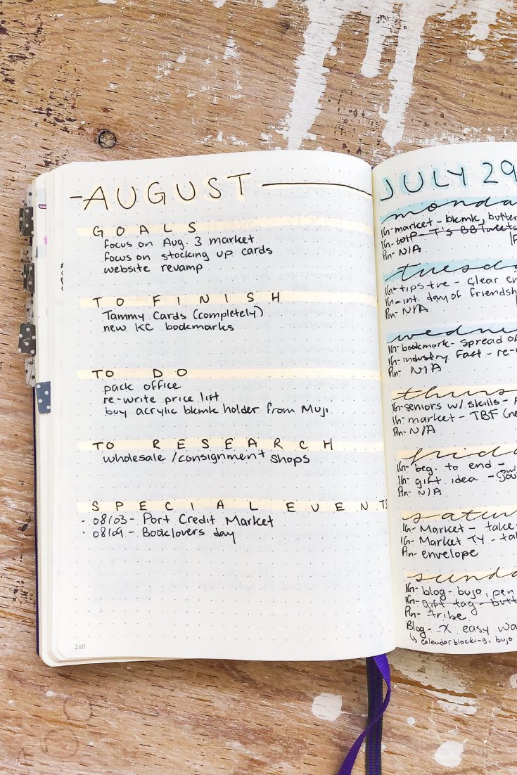 August To-do List Example | 5 easy ways to organize your day | Thoughtfully Handmade
