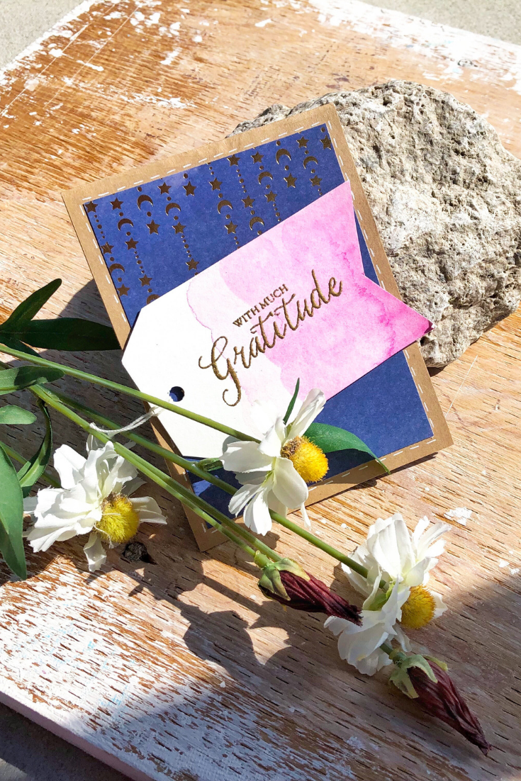 Gratitude Bonanza | pink & navy variant | handmade stars thank you card | Thoughtfully Gifted: Gratitude Extravaganza | short story about handmade thank you card | Thoughtfully Handmade