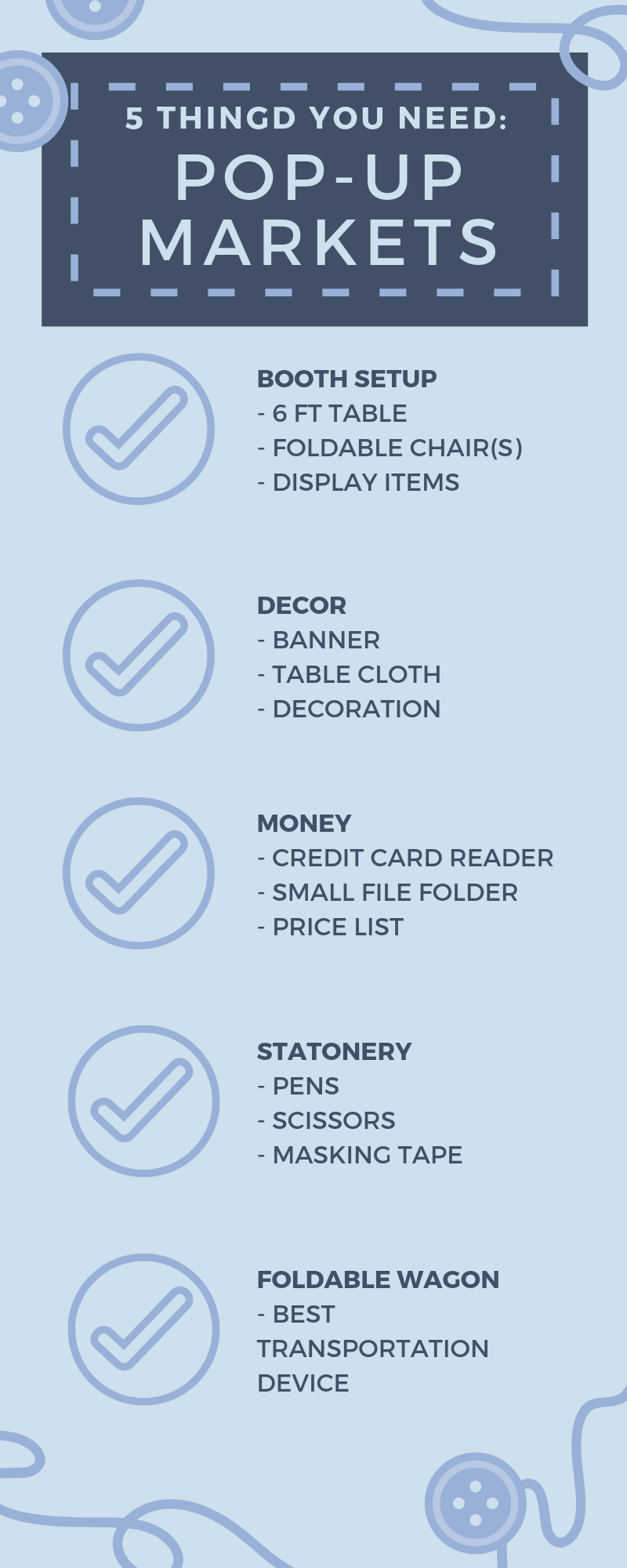 5 Things You Need: Pop-Up Market Edition | infographic | Thoughtfully Handmade