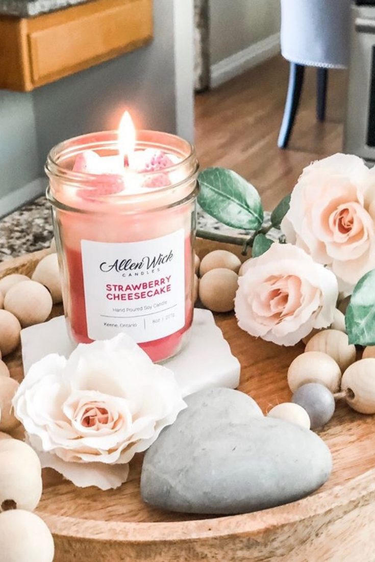 Allen Wick Candles | Dessert scented candles | 5 Things to Give: Feminine Birthday Edition | Thoughtfully Handmade