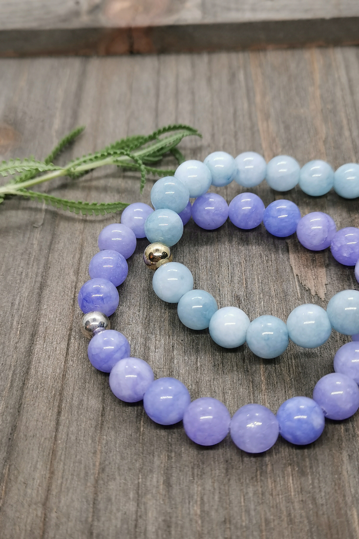 Art Arrows | lilac and light blue intention bracelets | 5 Things to Give: Feminine Birthday Edition | Thoughtfully Handmade