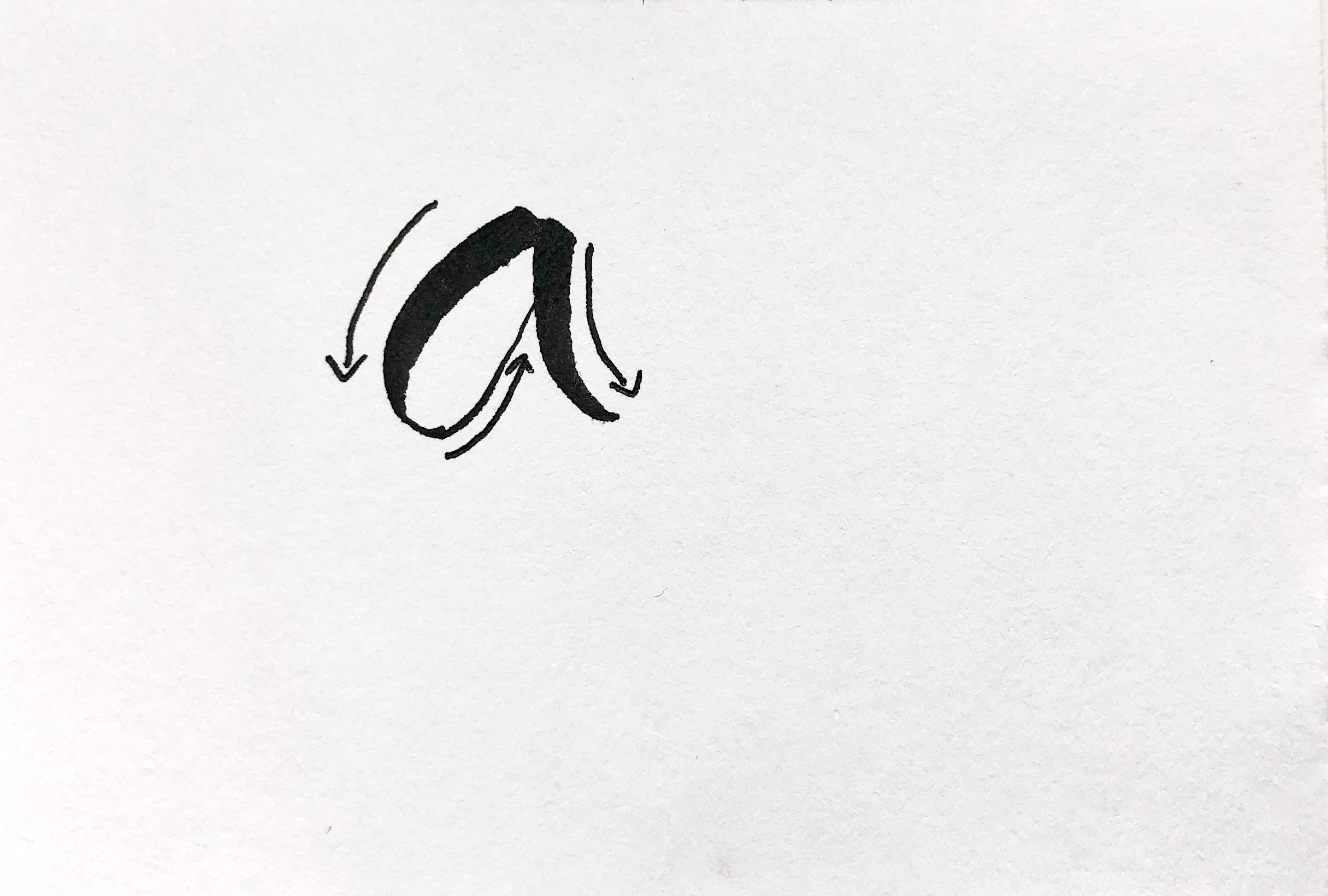 calligraphy letter guide   Thoughtfully Handmade