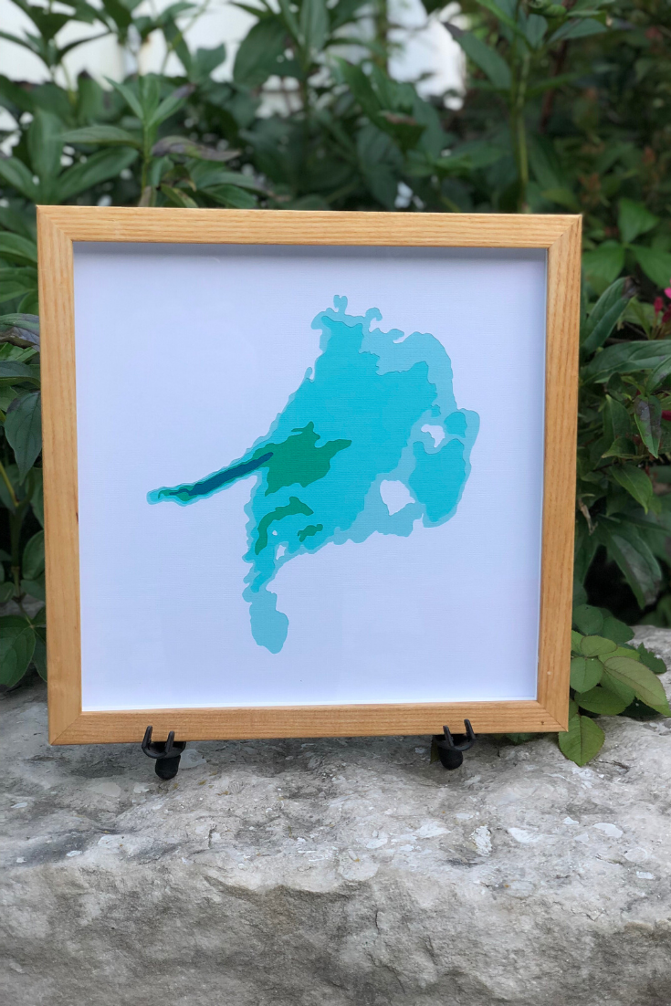 Cardtography | Handmade water depth maps | 5 Things to Give: Travel Lover Edition | Thoughtfully Handmade