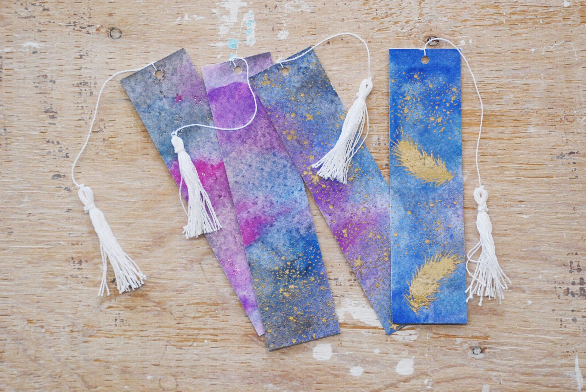 Galaxy Away bookmarks | 5 Things to Give: 2018 Gift Guide | Thoughtfully Handmade