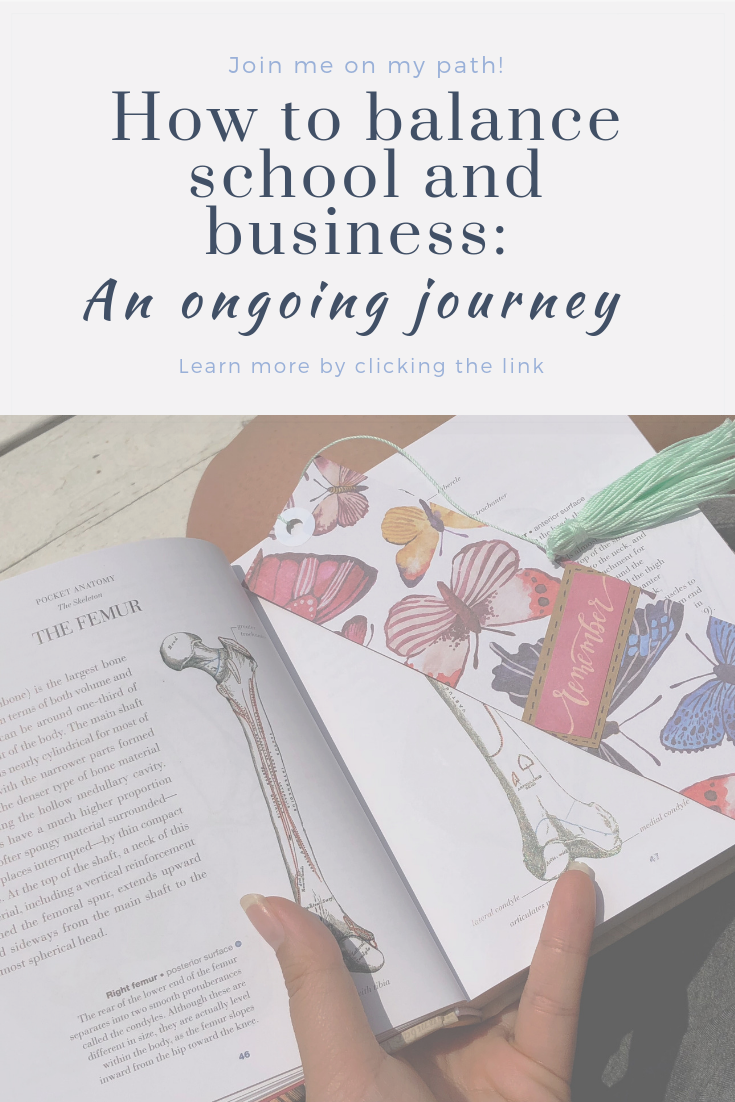 How to balance school and business: an ongoing journey | Thoughtfully Handmade