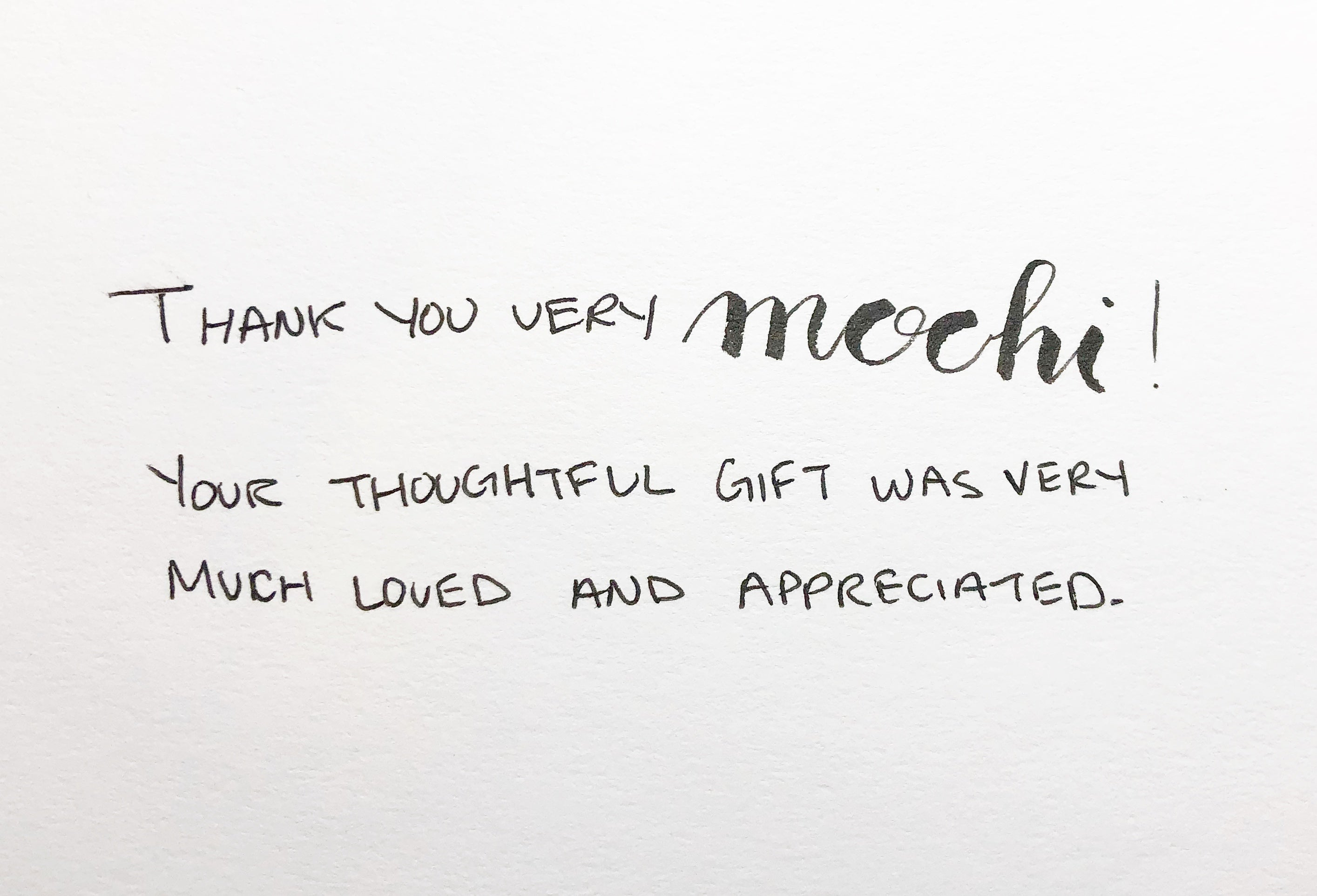 Thank you very mochi! Your thoughtful gift was very much loved and appreciated. | Thoughtfully Handmade