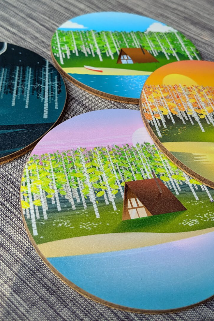 Justindeed Design Co. | Hand-designed coasters and prints | 5 Things to Give: Christmas 2019 Edition | Thoughtfully Handmade