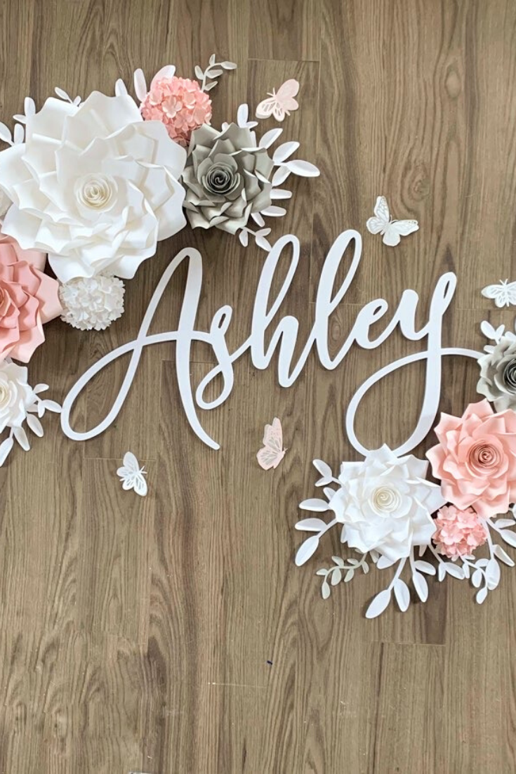 Kiss My Ashley | Handmade paper and vinyl flower decor | 5 Things to Give: Baby Shower Edition | Thoughtfully Handmade