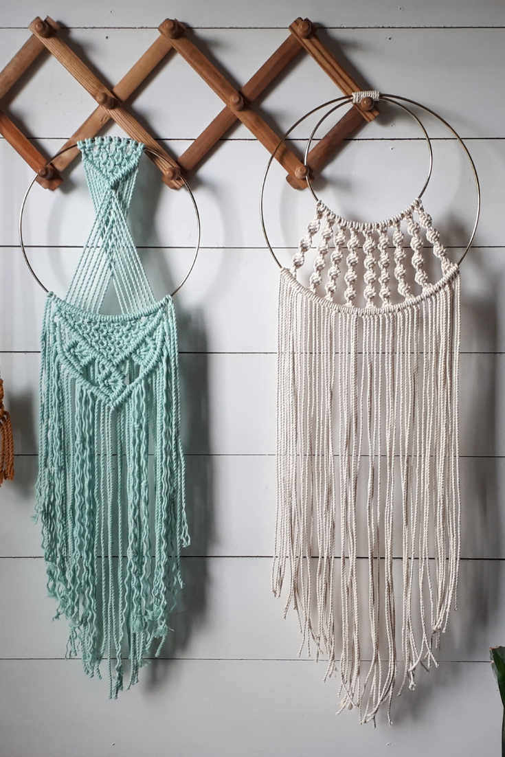 Little Knotty Farmhouse | mint green and cream macrame wall hangings | 5 Things to Give: Feminine Birthday Edition | Thoughtfully Handmade