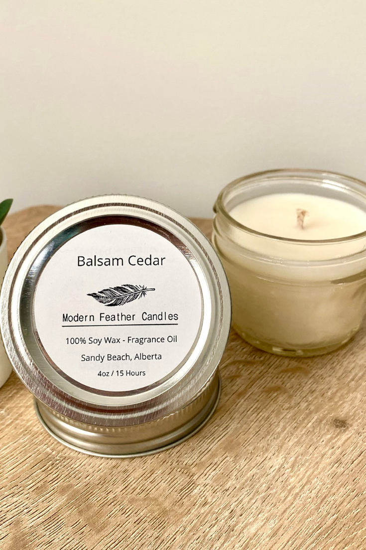 Modern Feather Candles | Hand-poured Candles | 5 Things to Give: Winter Birthday Edition | Thoughtfully Handmade