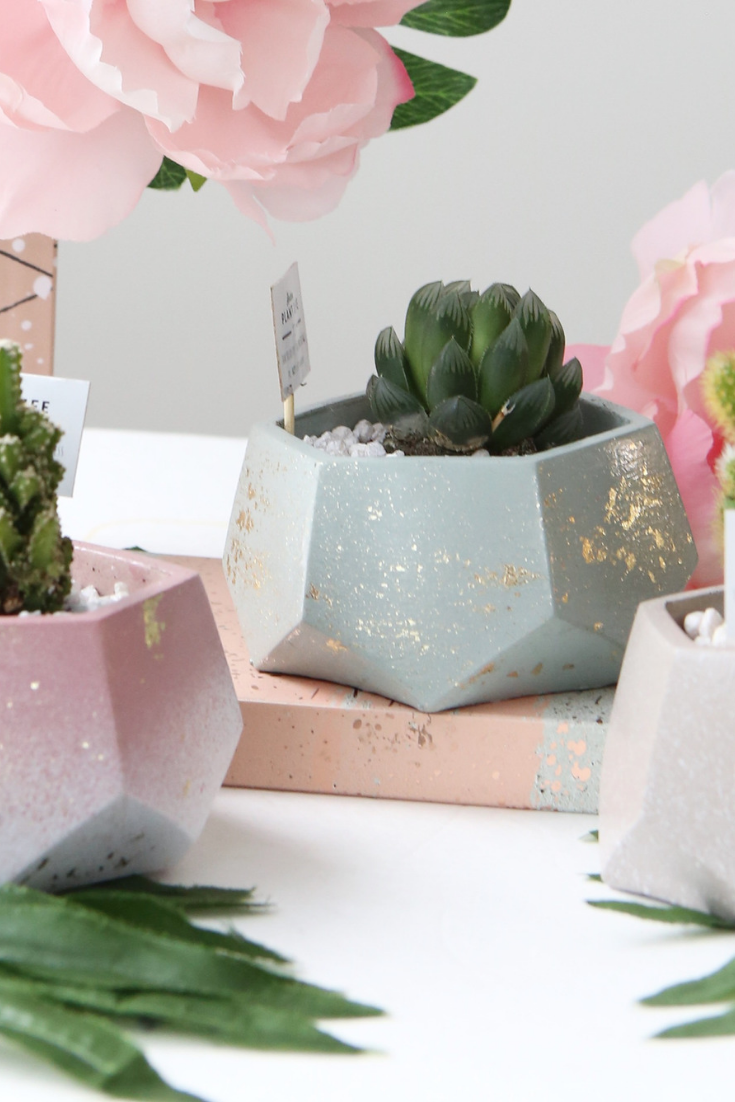 Modern Plant Life | handmade planters | geometric planters | 5 things to give: Mother's Day Edition | Thoughtfully Handmade