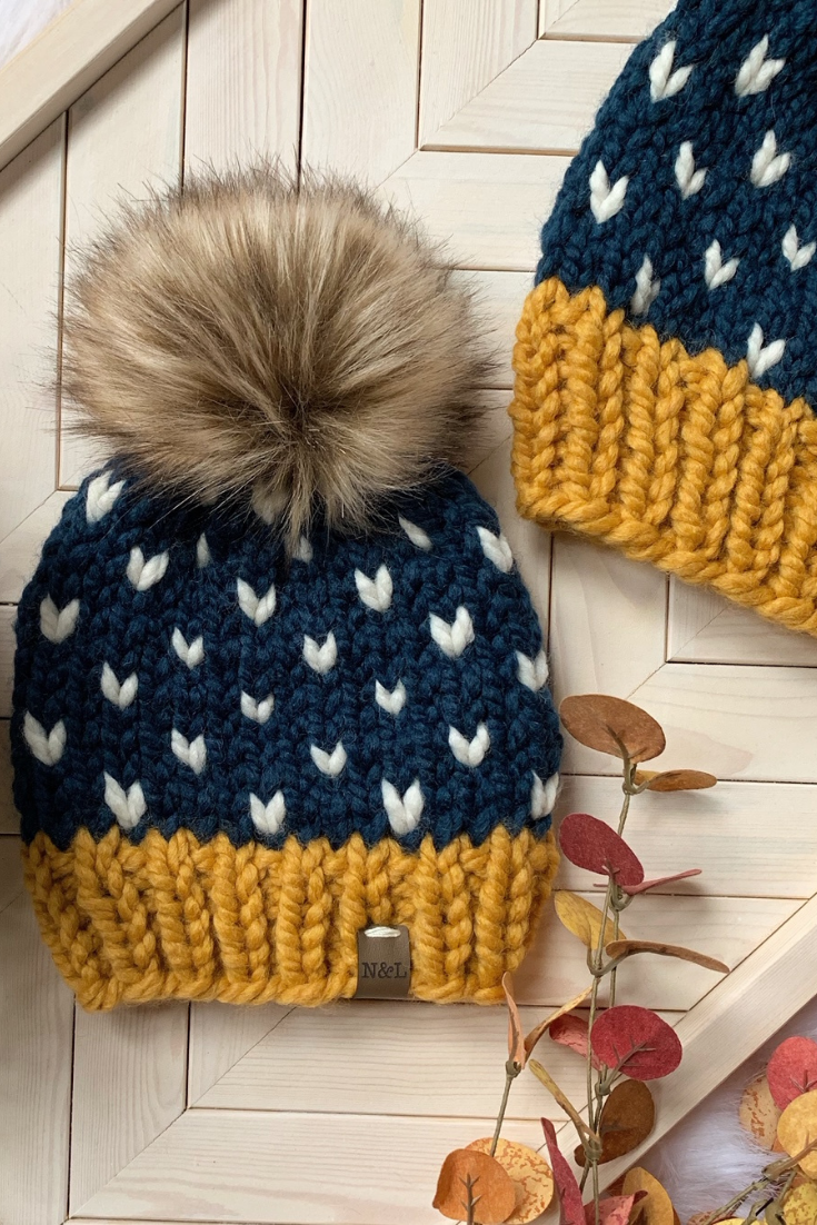 NORMandLOU Handmade | Handmade Knit Beanies | 5 Things to Give: Winter Birthday Edition | Thoughtfully Handmade
