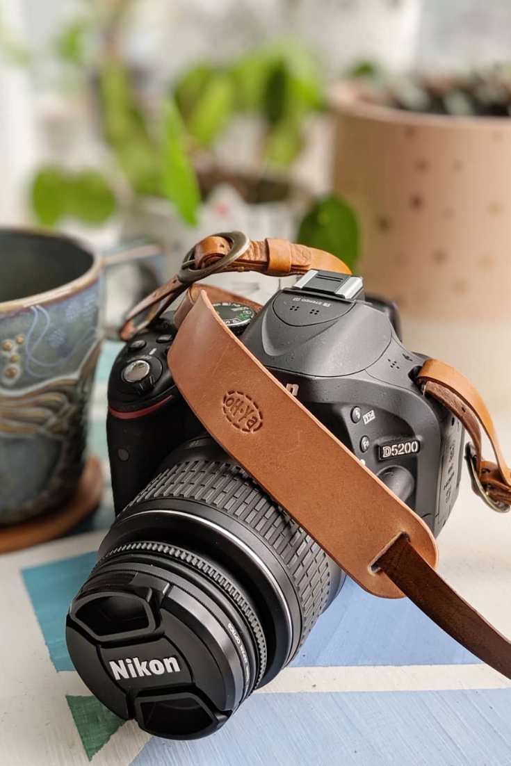 Oh Ya Leather | Handmade leather camera strap | 5 Things to Give: Masculine Birthday Edition | Thoughtfully Handmade