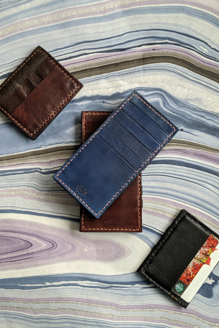 Oh Ya Leather | Handmade leather wallet | 5 Things to Give: Masculine Birthday Edition | Thoughtfully Handmade