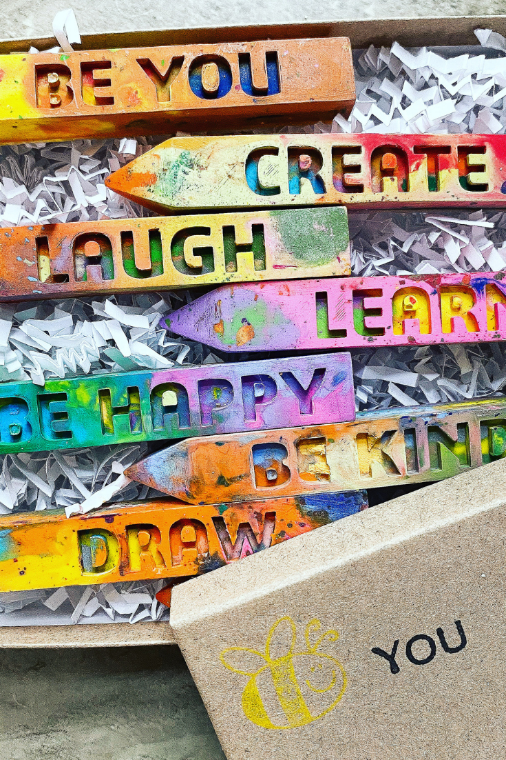 Say It With Crayons   Handmade Recycled Crayons   5 Things to Give: Kids' Birthday Edition   Thoughtfully Handmade