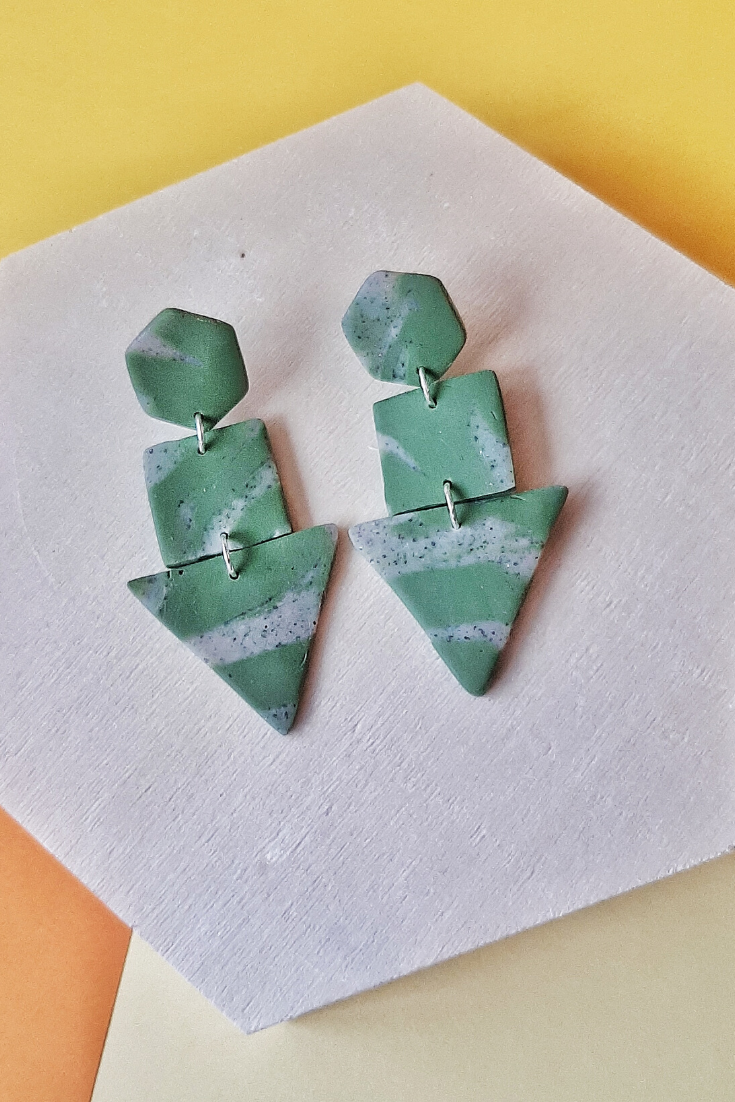Simply Cyra | Handmade polymer clay earrings | 5 Things to Give: Baby Shower Edition | Thoughtfully Handmade