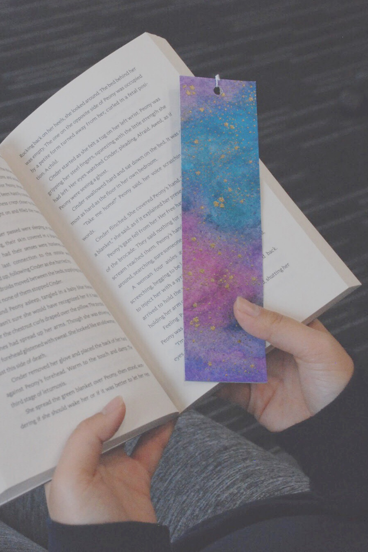 Galaxy Away handmade bookmarks | Thoughtfully Gifted: Secret Santa Struggle | Thoughtfully Handmade
