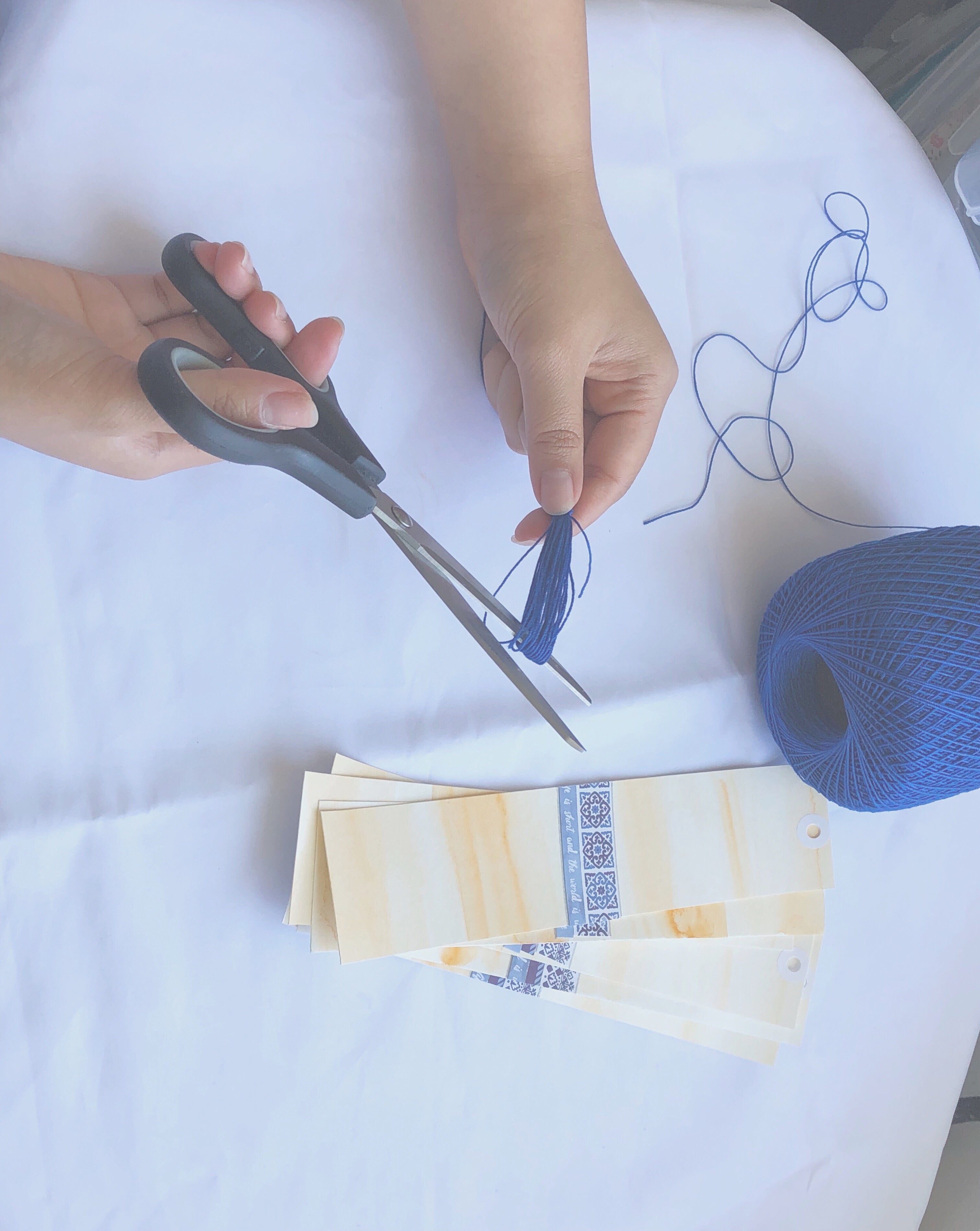 Step 5 of tassel-making | 6 Easy Steps to Your Perfect Tassel | Thoughtfully Handmade
