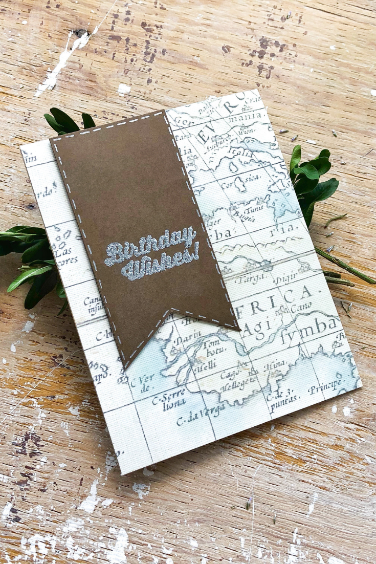 Bon Voyage | Handmade birthday card | 5 Things to Give: Masculine Birthday Edition | Thoughtfully Handmade