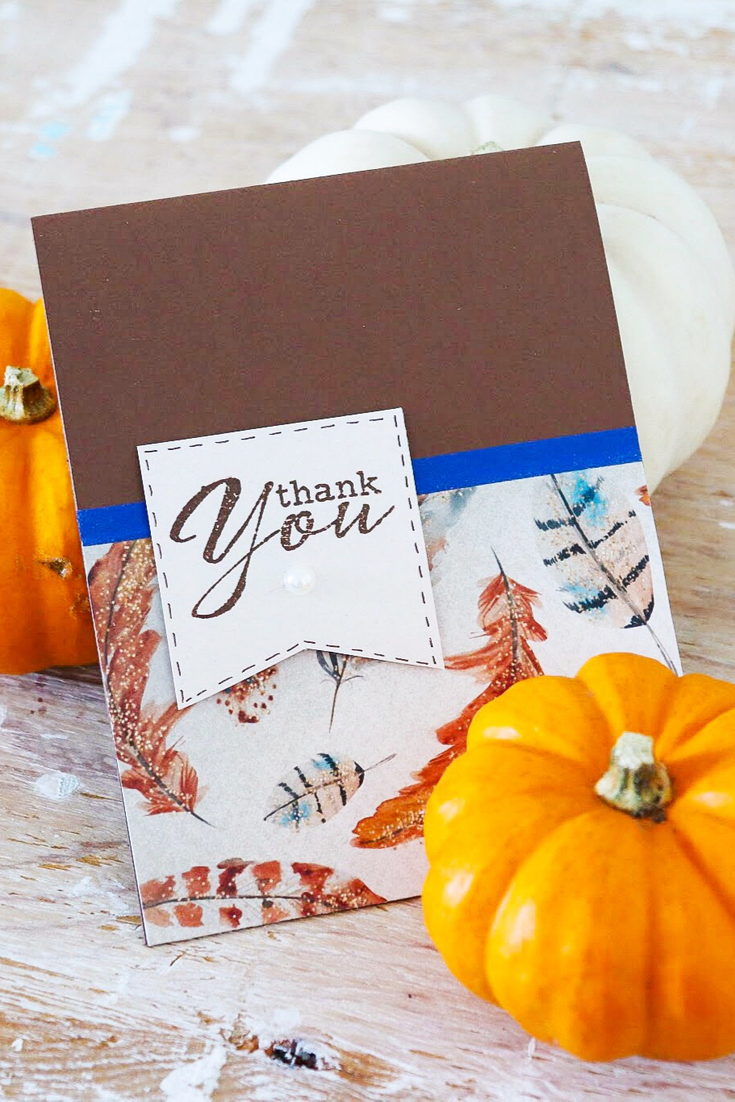 Autumn | handmade fall inspired thank you card | 5 Things to Give: Fall Lover Edition | Thoughtfully Handmade