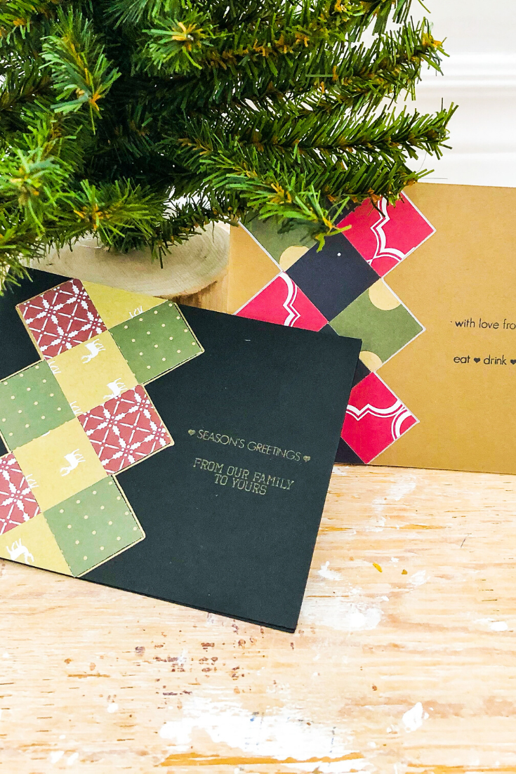 Holiday Argyle Madness | Handmade Christmas Card | 5 Things to Give: Christmas 2019 Edition | Thoughtfully Handmade