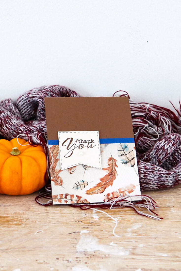 Autumn | handmade thank you card | 5 Things to Give: Thank You Gifts Edition | Thoughtfully Handmade