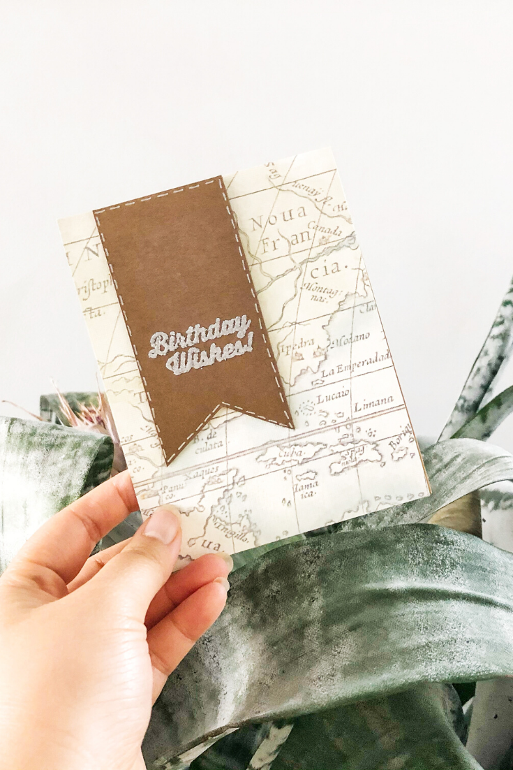 Bon Voyage | Handmade birthday card | 5 Things to Give: Travel Lover Edition | Thoughtfully Handmade