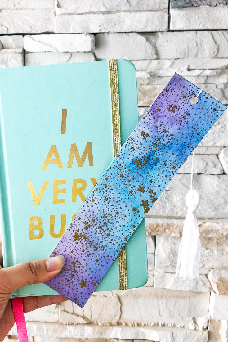 Galaxy Away | Handmade Watercolour Bookmark | 5 Things to Give: Girl Boss Edition | Thoughtfully Handmade