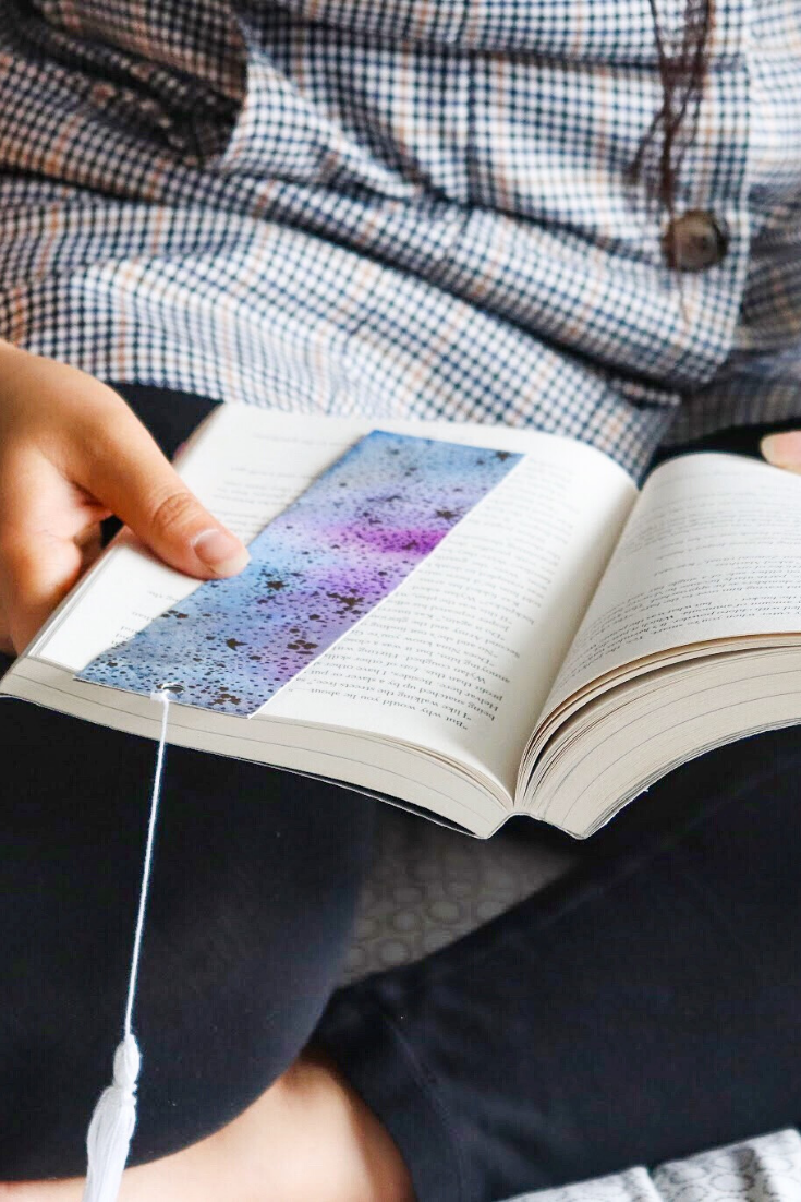Galaxy Away | Handmade watercolour bookmarks | 5 Things to Give: Goal-Setting Edition | Thoughtfully Handmade