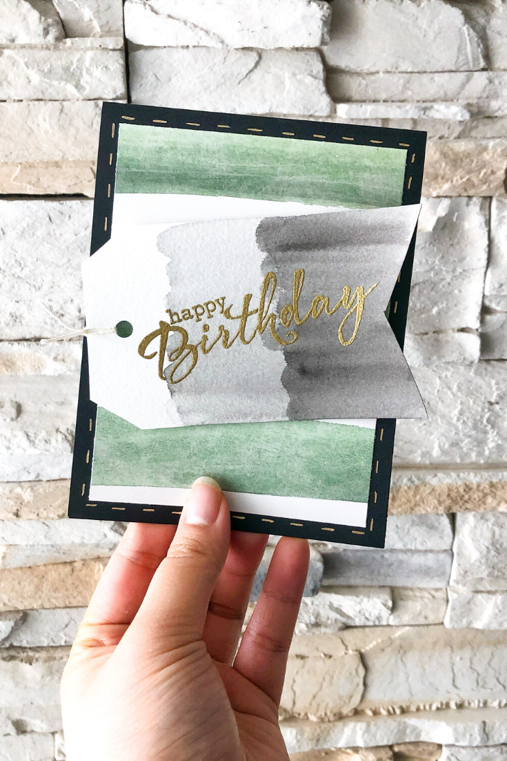 Birthday Bonanza | Green Stripe Variant | Handmade birthday card | 5 Things to Give: Travel Lover Edition | Thoughtfully Handmade