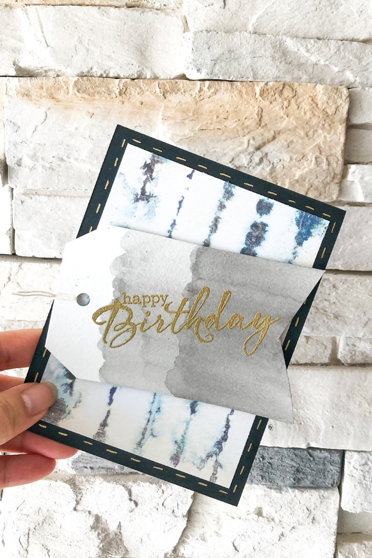 Birthday Bonanza | Blue Stripes Variant | Handmade Birthday Card | 5 Things to Give: Foodie Edition | Thoughtfully Handmade