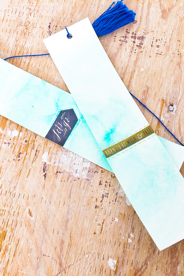 Watercolour Madness | green variant | handmade bookmarks | 5 Things to Give: Stationery Lover Edition | Thoughtfully Handmade