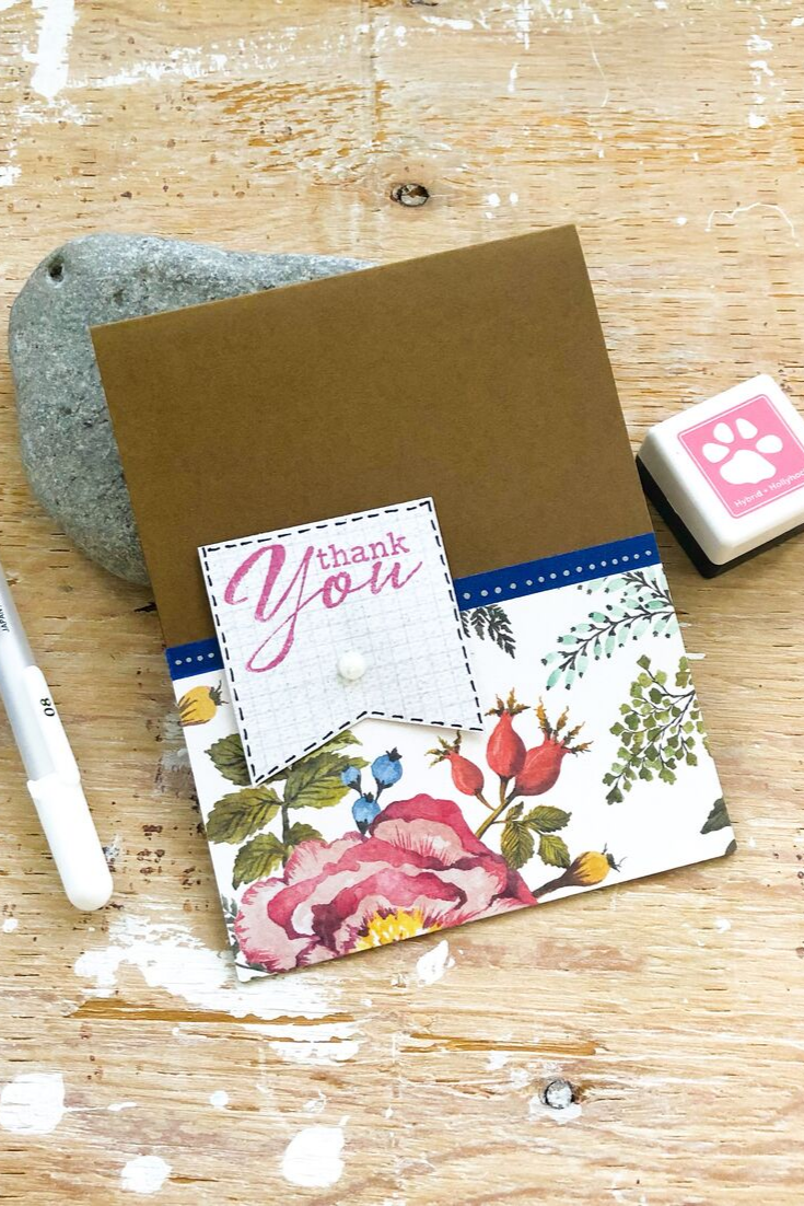 Spring | handmade thank you card | 5 Things to Give: Thanksgiving Host/Hostess Edition | Thoughtfully Handmade