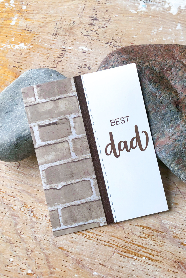 Man Crush | Brick Variant | Handmade Father's Day or birthday card | 5 Things to Give: Masculine Birthday Edition | Thoughtfully Handmade