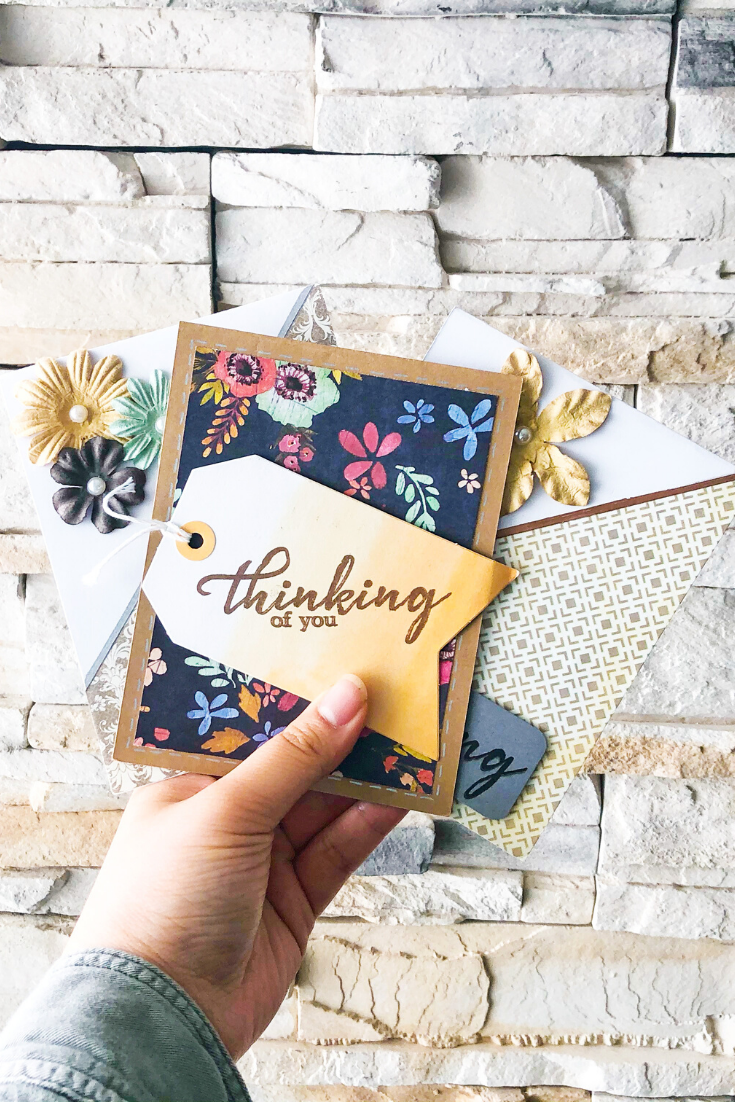 A Burst of Happiness | Handmade greeting cards | 5 Things to Give: Zero Waste Edition | Thoughtfully Handmade