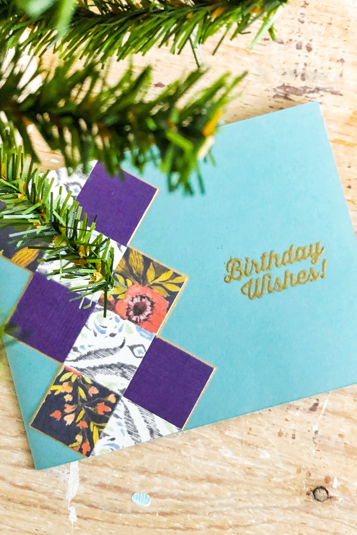 Argyle Wishes | Handmade Birthday Card | 5 Things to Give: Winter Birthday Edition | Thoughtfully Handmade