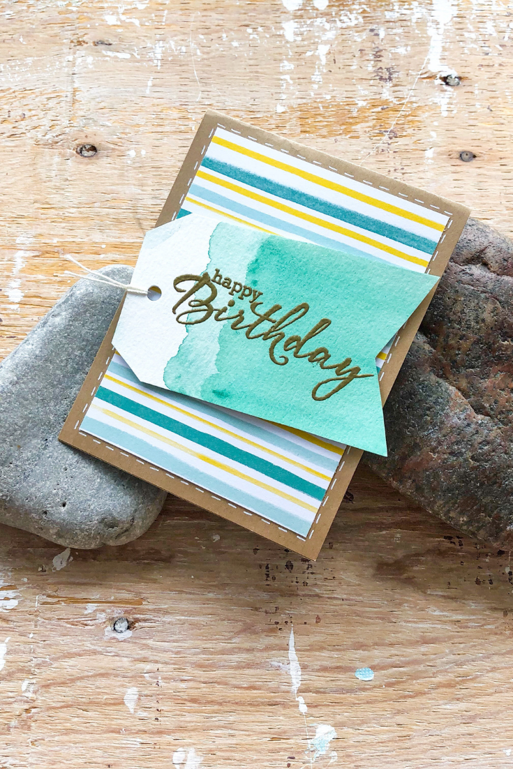 Thoughtfully Handmade | Birthday Bonanza Birthday Card | Stripes variant | 5 Things to Give: Feminine Birthday Edition | Thoughtfully Handmade