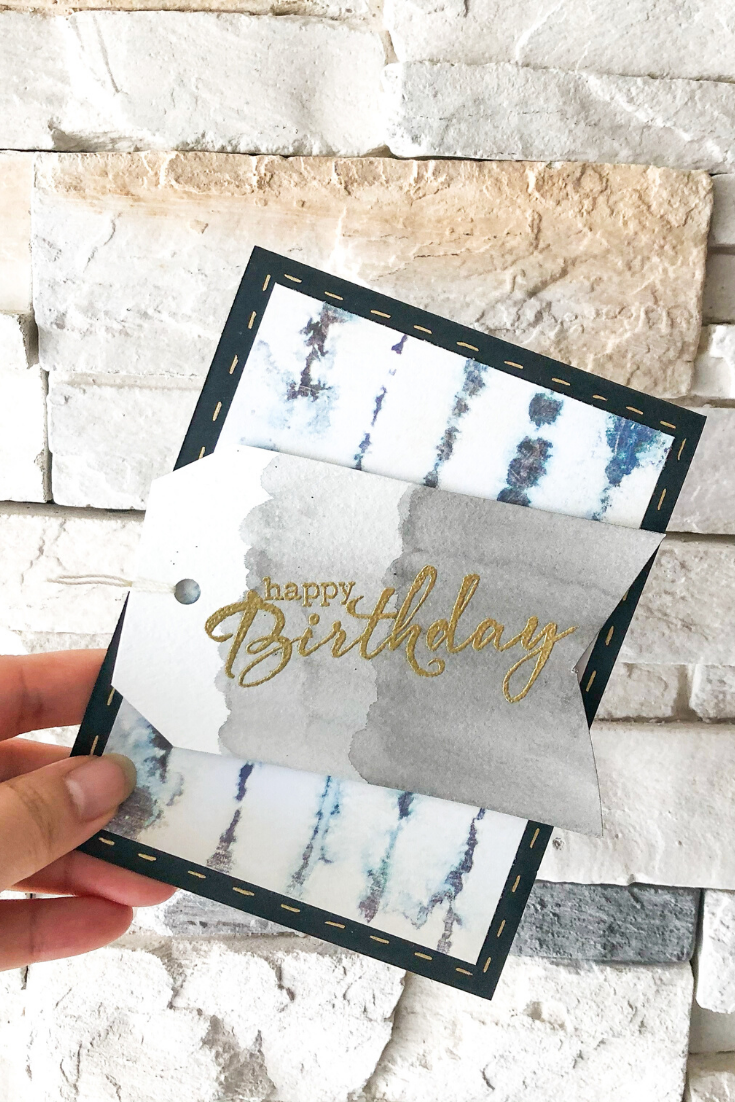 Birthday Bonanza | Blue Stripe Variant | Handmade birthday card | 5 Things to Give: Travel Lover Edition | Thoughtfully Handmade