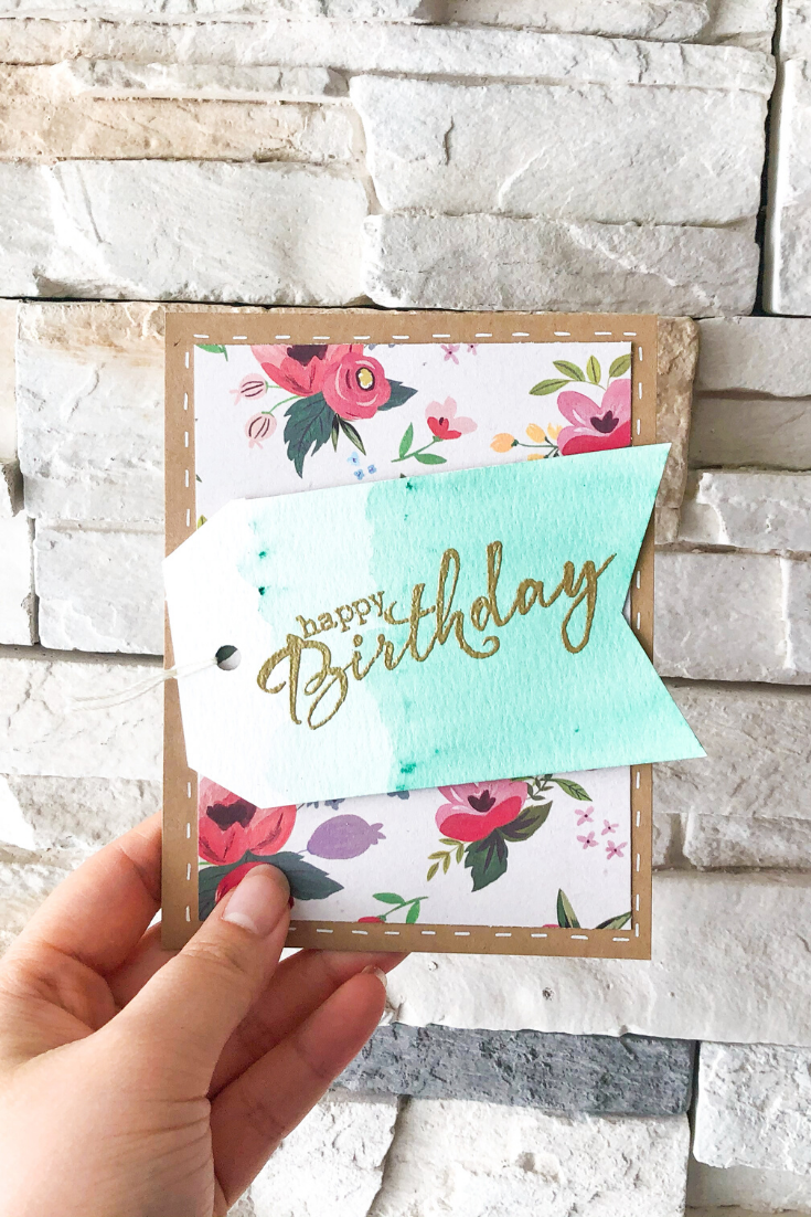 Birthday Bonanza | Green Floral Variant | Handmade birthday card | 5 Things to Give: Travel Lover Edition | Thoughtfully Handmade