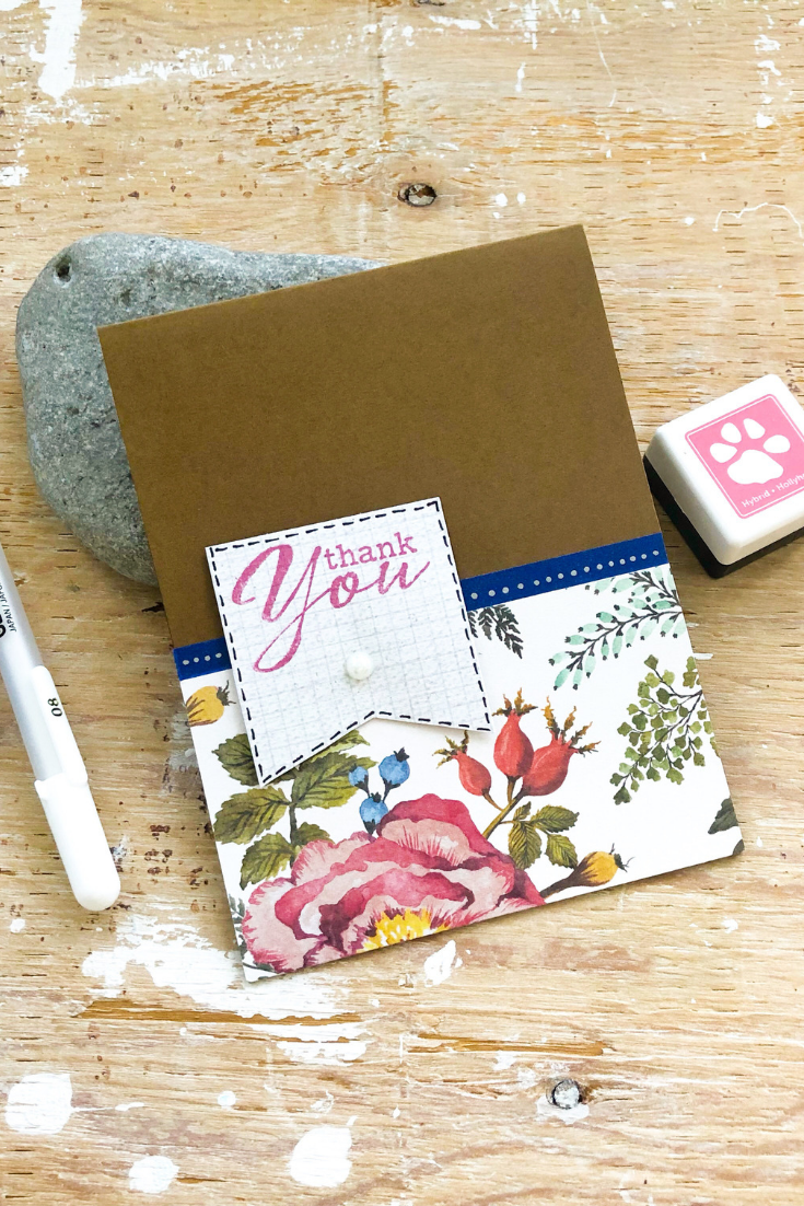 Spring | handmade thank you card | 5 Things to Give: Thank You Gifts Edition | Thoughtfully Handmade