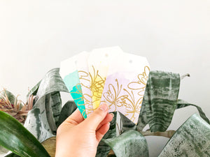 Butterflies | handmade gift tags | watercolour gift tags embossed with gold butterflies | pack of 4 | Thoughtfully Handmade