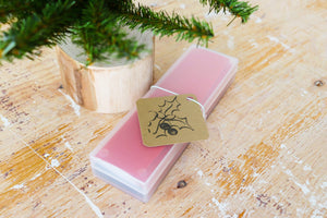 Holiday | handmade gift tags | kraft tags with mistletoe print | set of 10 | Thoughtfully Handmade