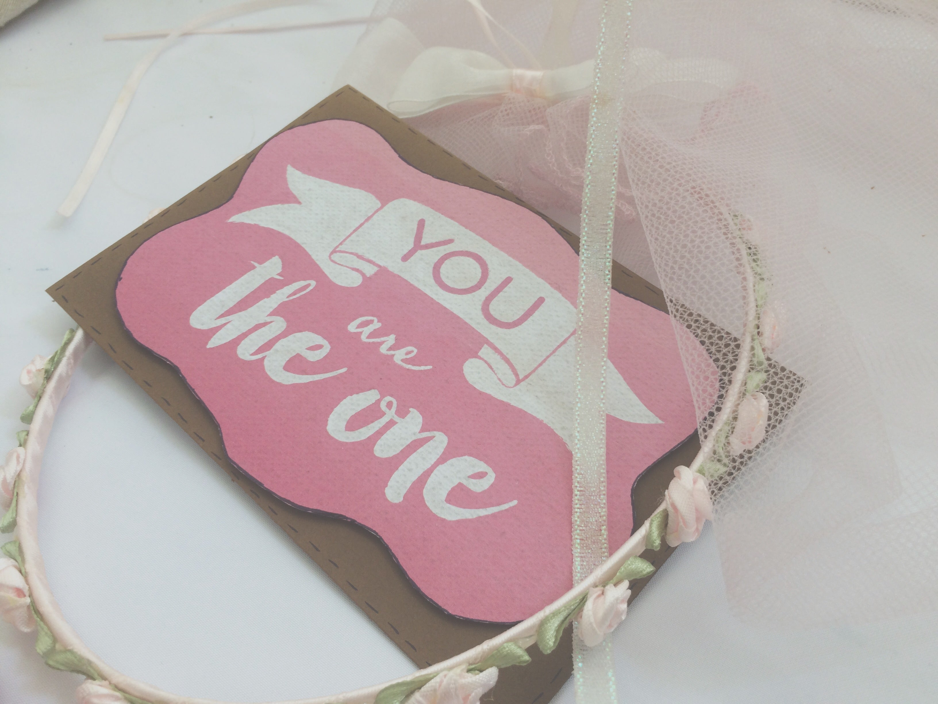 pink variant of Puddle of Love handmade Valentine's Day card by Thoughtfully Handmade