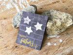 Starry Delight | handmade Father's Day card | black brick background with 3 white stars and happy father's day sentiment | Thoughtfully Handmade