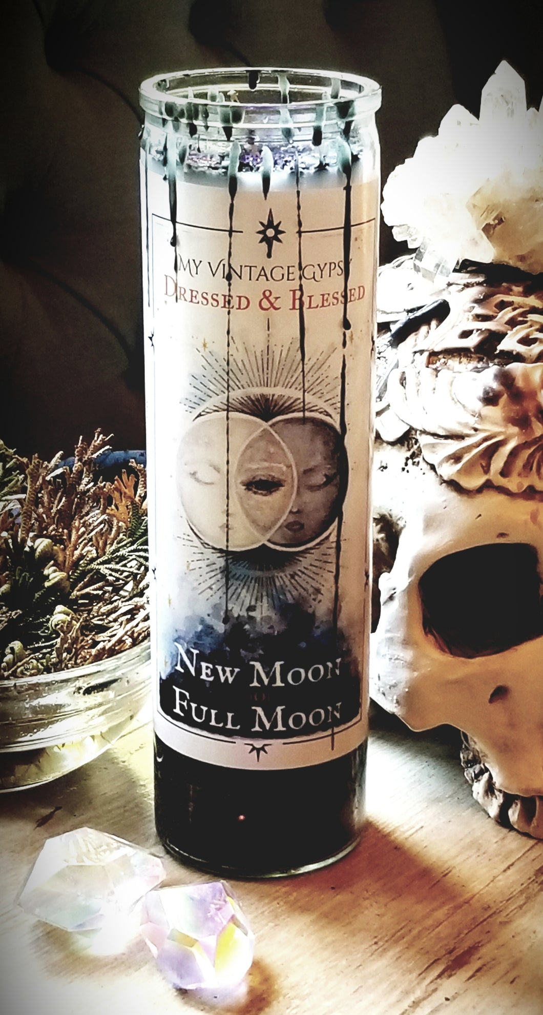 New Moon/Full Moon Dressed & Blessed Candle