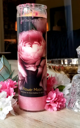Flower Moon Blessed Candles