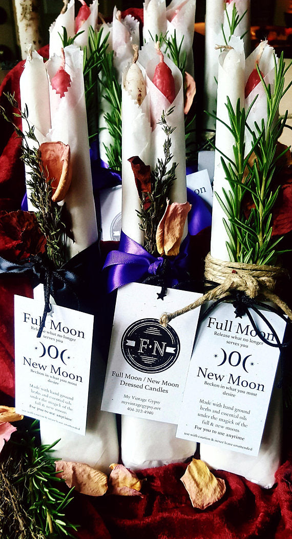 Full Moon/New Moon Candle Set