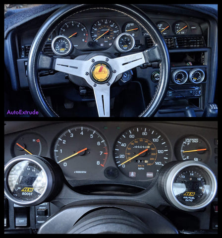MK3 Supra - Steering Wheel Gauge Pod (52mm or 60mm & 86.5-88)